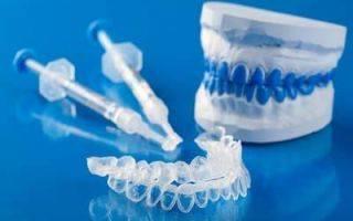 Гели и капы для отбеливания зубов