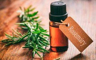 Эфирное масло розмарина для волос