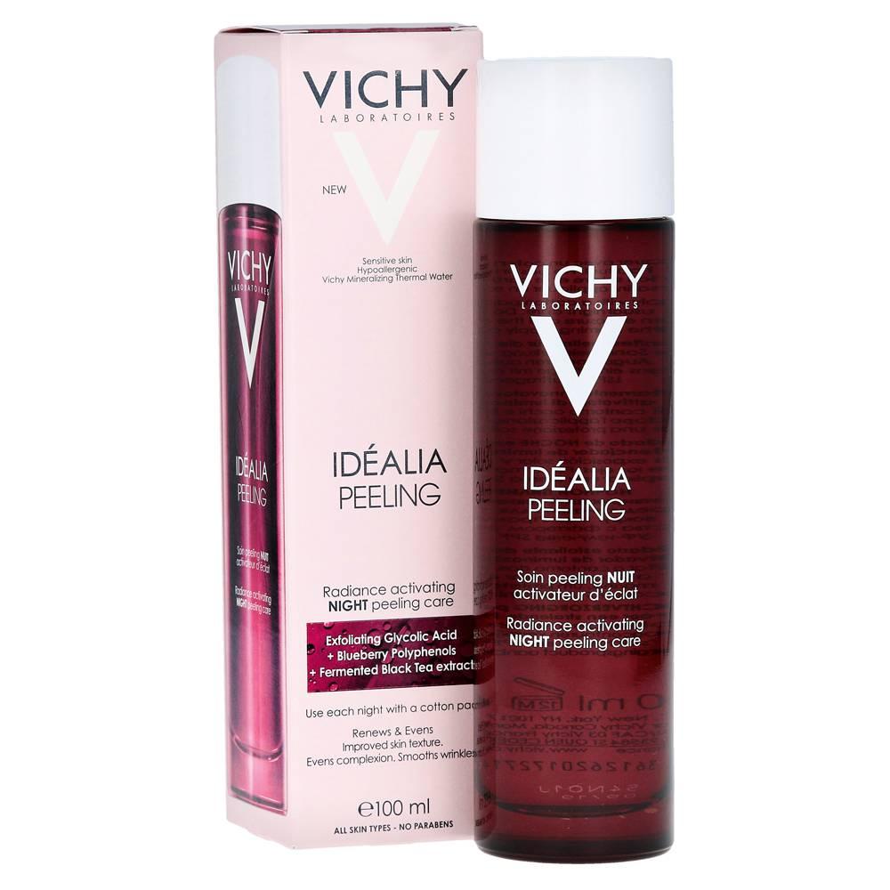 Ночной пилинг vichy idealia для чувствительной и тусклой кожи