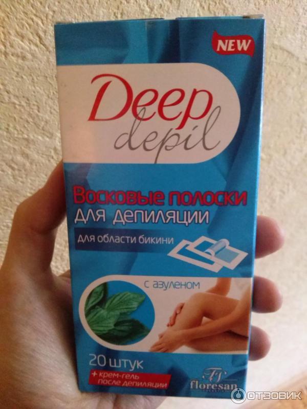 Восковые полоски «floresan deep depil»