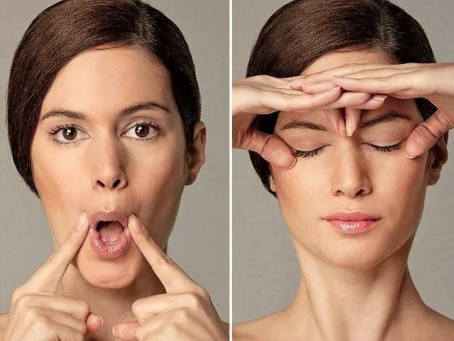Массаж для скул лица в картинках