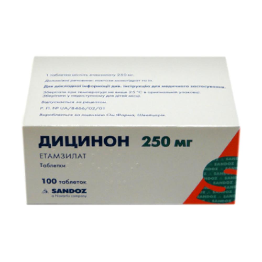 Дицинон таблетки инструкция по применению при месячных отзывы. рекомендации по применению дицинона во время месячных
