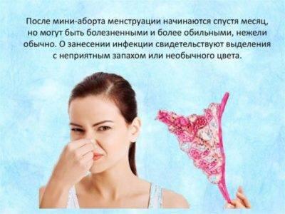 Все о месячных после медикаментозного прерывания беременности
