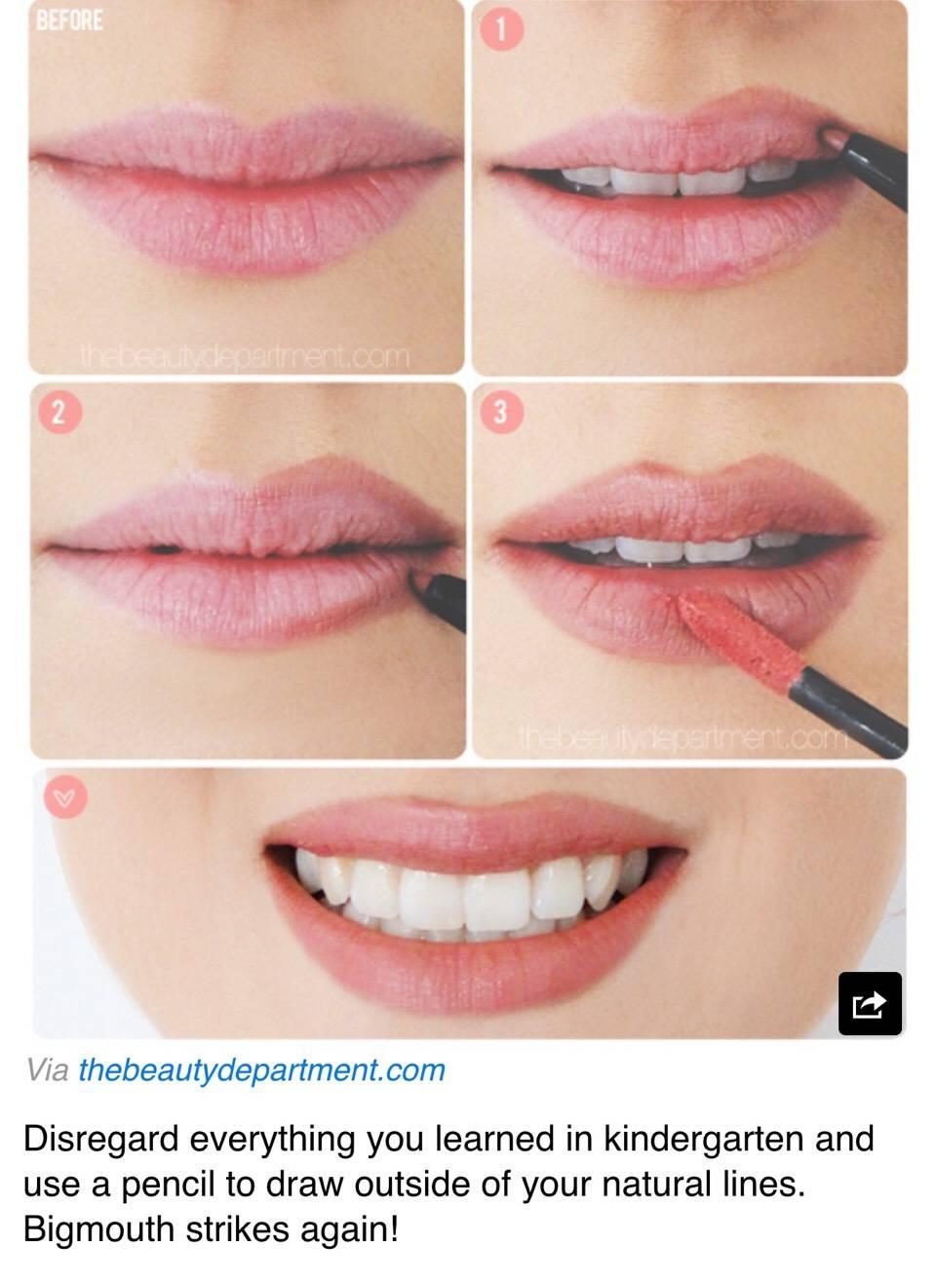 Макияж для губ: секреты и хитрости (50 фото)