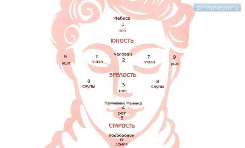Древние знания: девять точек на лице, указывающие на нашу предрасположенность к счастью и богатству (7 фото) - «мистика»