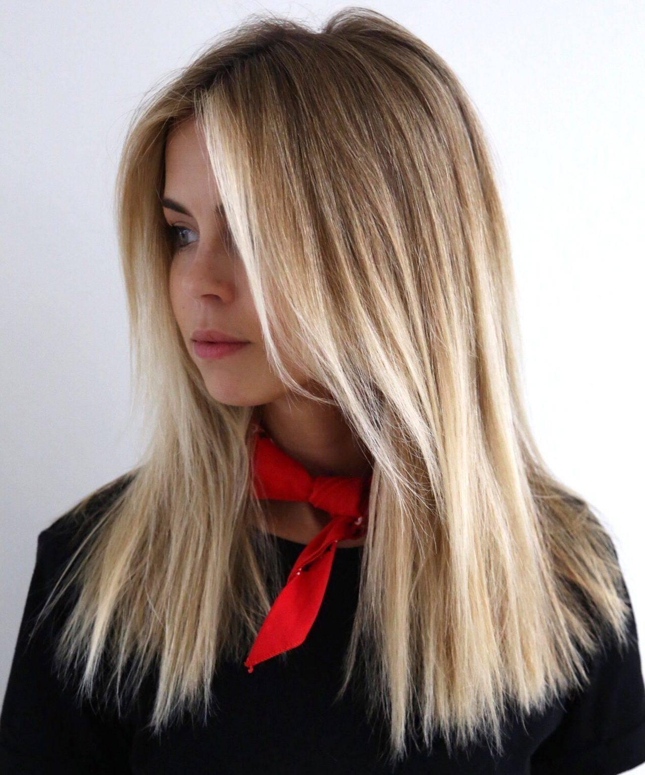 Модное окрашивание шатуш на темные волосы: 116 фото