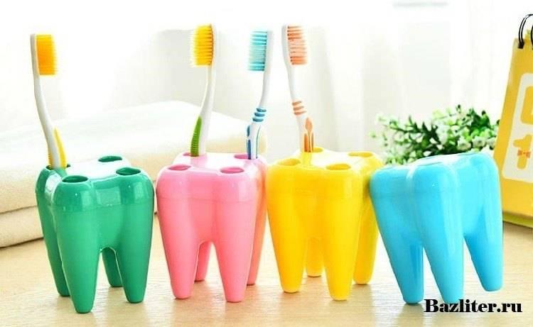 Правильное хранение зубных щеток ванной