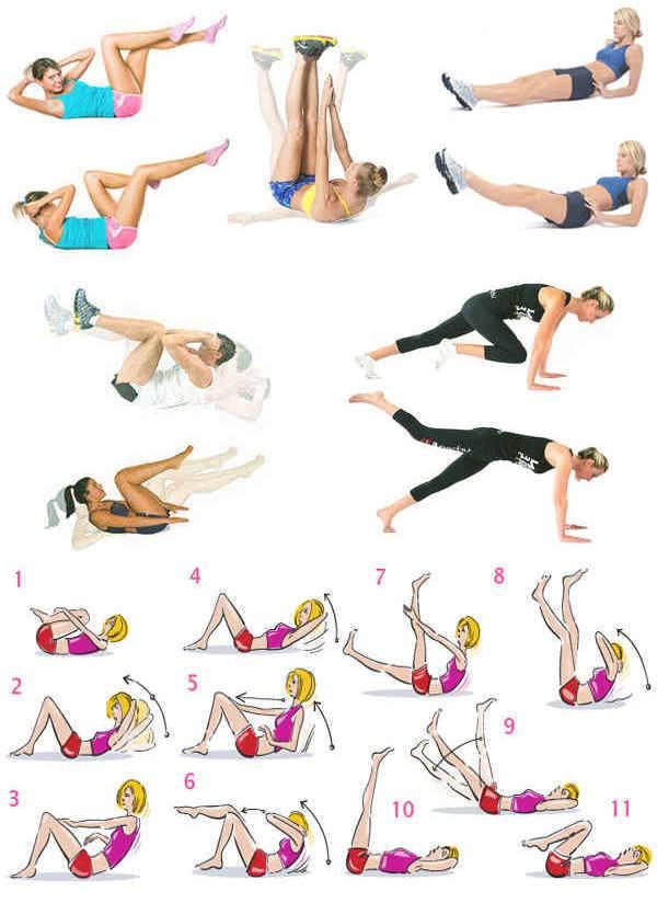 Упражнения и тренировки для сжигания жира на животе — подробный гид
