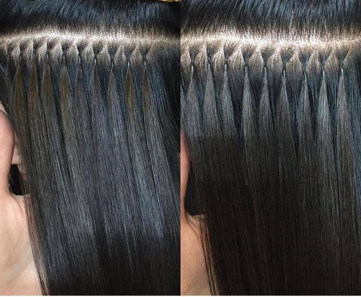 Особенности наращивания волос капсулами