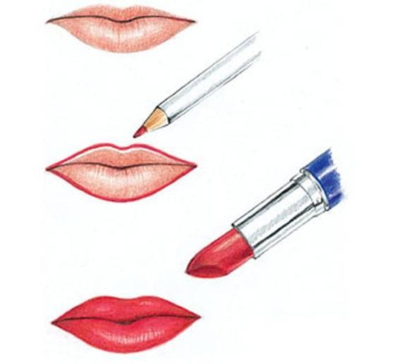 Карандаш для губ: учимся правильно подводить и красить губы