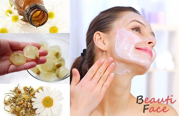 Маски, отвар, лёд и настойка из ромашки для кожи лица: приготовление и применение в домашних условиях