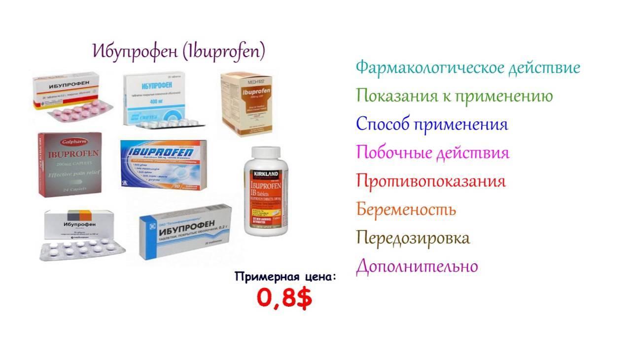 Инструкция по применению ибупрофен. от чего помогает лекарство