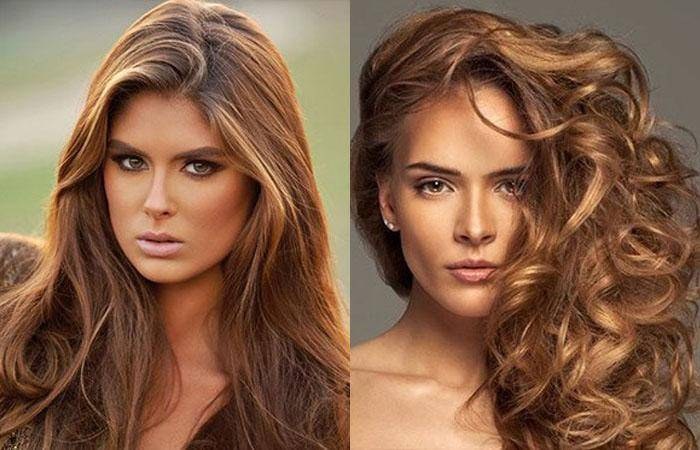 Каштановый цвет волос: палитра из 60+ модных образов