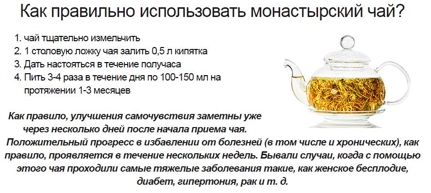 Состав монастырского желудочного чая от панкреатита