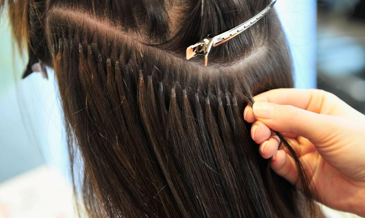 Голливудское (ультразвуковое) наращивание волос