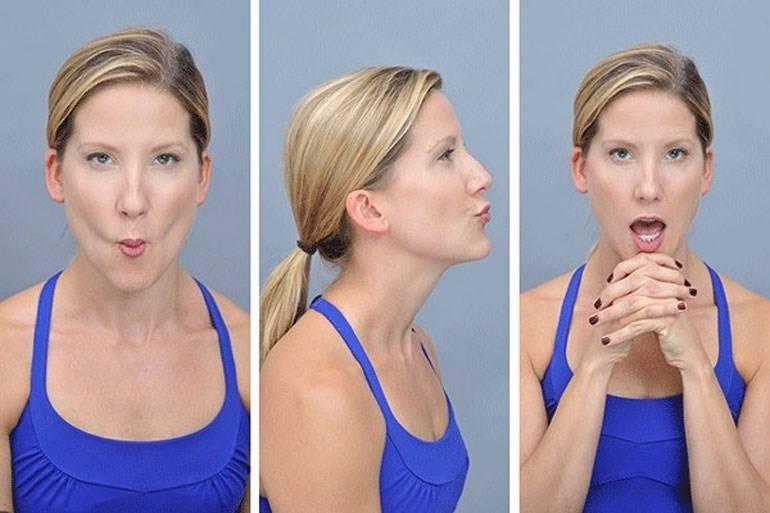 Упражнения для овала лица против бульдожьих щек