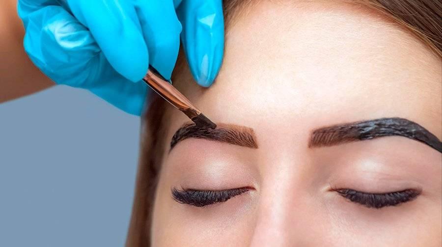 Окрашивание бровей хной — особенности процедуры