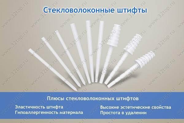 Восстановление зубов с помощью стекловолоконных штифтов