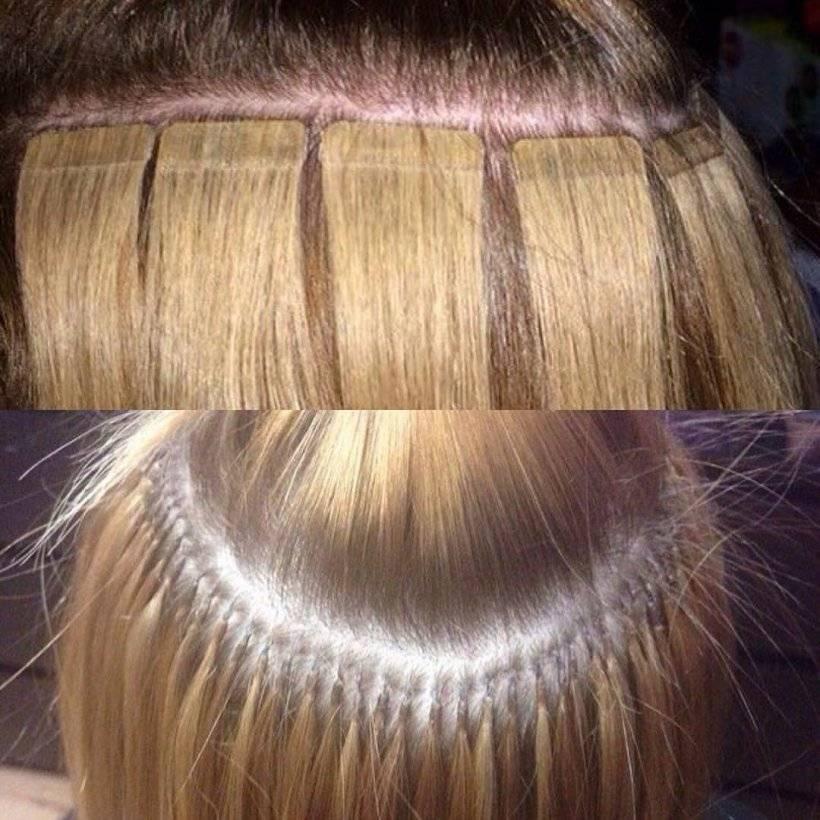 Виды ленточного наращивания волос (пошагово.уход.)