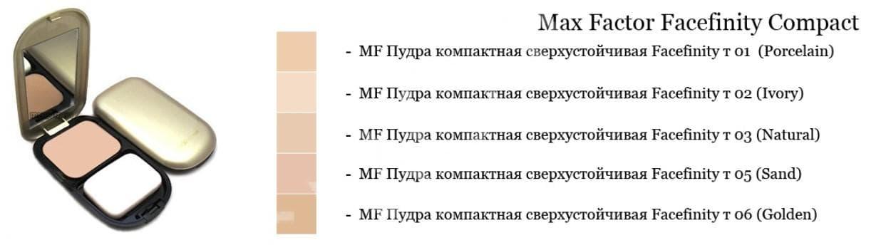 Пудра макс фактор (max factor)- оттенки тонального крема для лица, отзывы