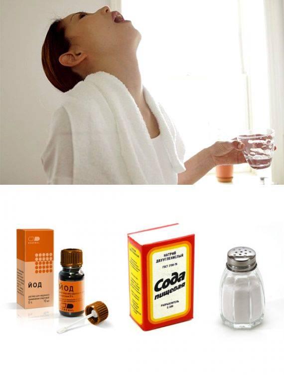 Полоскание горла содой: как применять при ангине