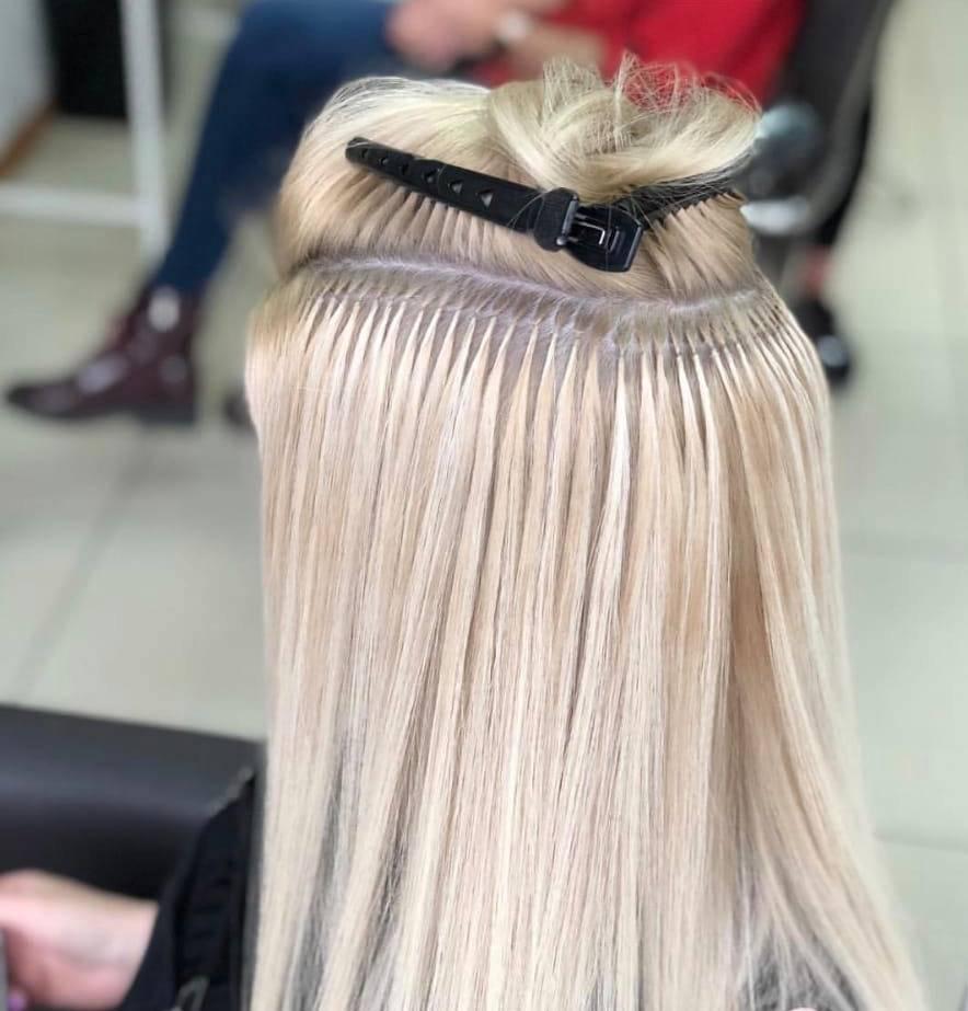 Капсульное наращивание волос с фото и видео
