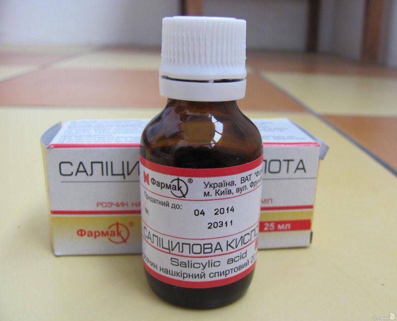 Салициловая кислота: состав, свойства, показания и инструкция по применению