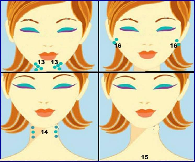 Техника проведения японского массажа лица шиацу для омоложения