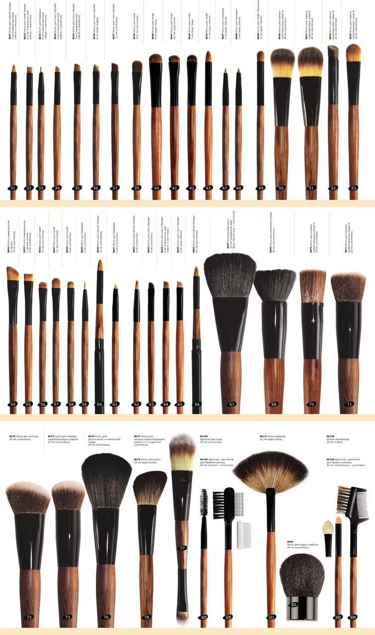 Кисти для макияжа. какая для чего нужна? подробный разбор