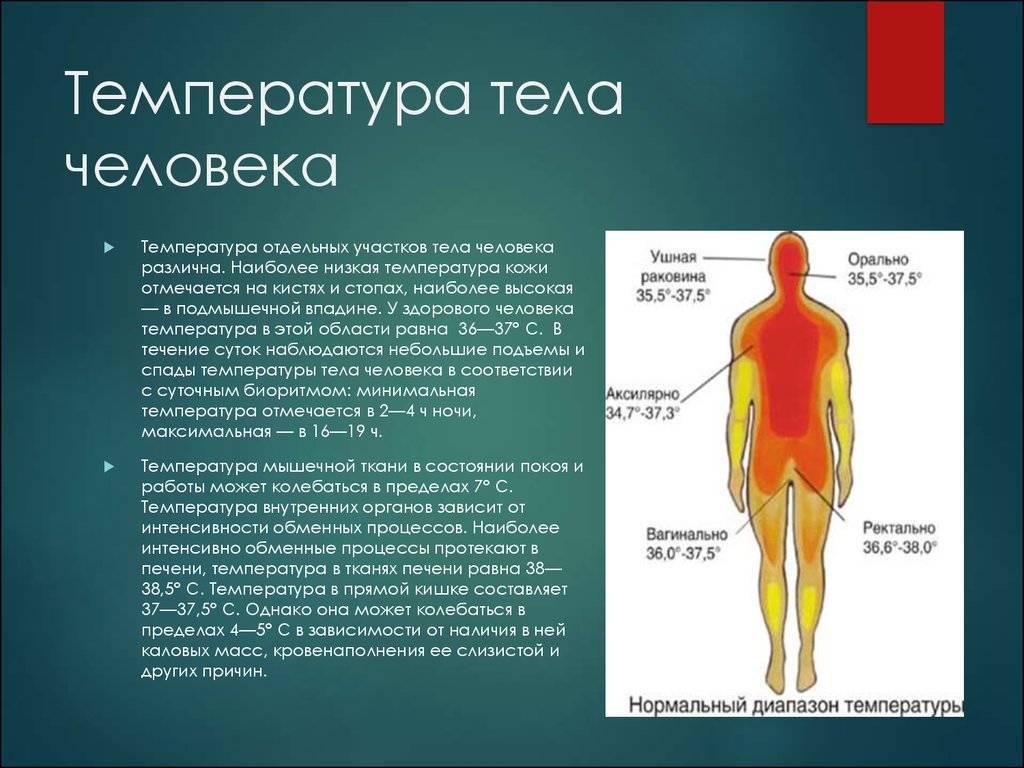 Низкая температура тела при различных заболеваниях