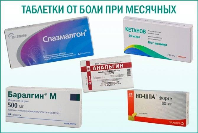 Список обезболивающих при месячных: таблетки, уколы и аналоги