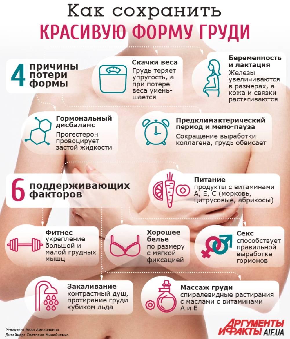 Как сделать грудь упругой, как увеличить упругость женской груди дома