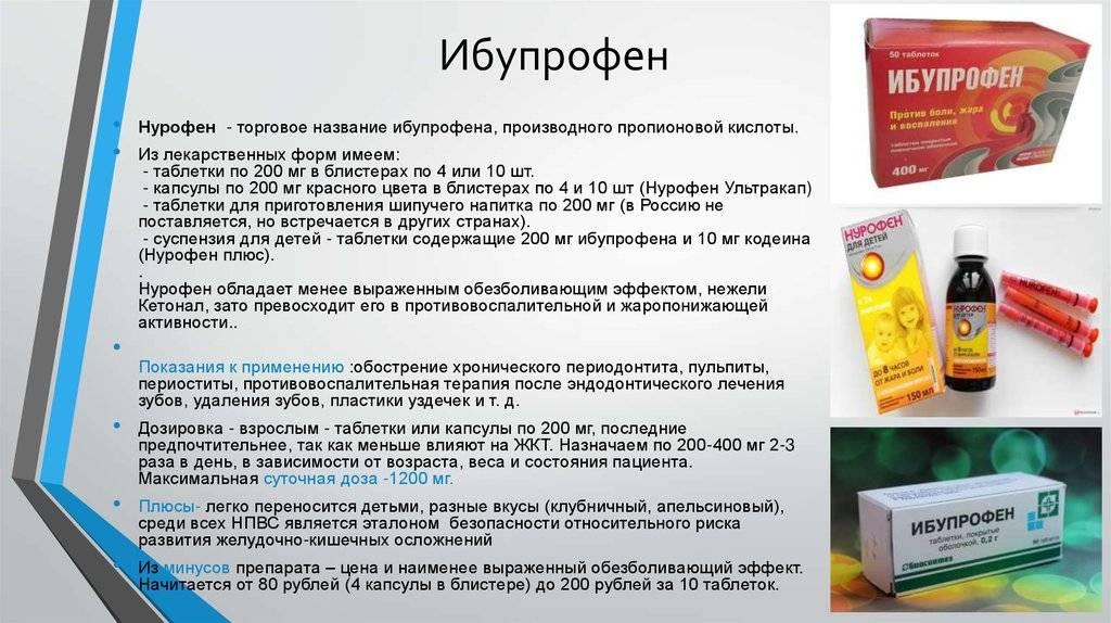 Ибупрофен: описание, показания и противопоказания