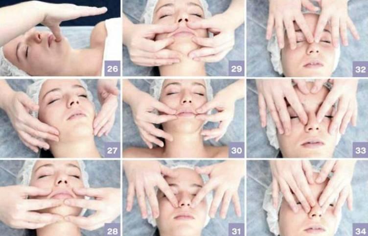 Схема массажных линий лица и шеи для эффективного и безопасного воздействия на кожу