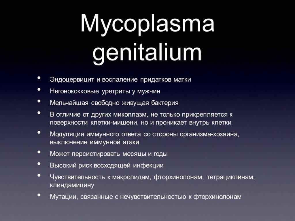 Микоплазмоз: симптомы у мужчин и женщин, лечение антибиотиками