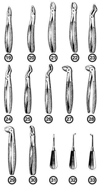 Какие инструменты используются для удаления зубов