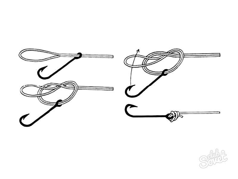 Как привязать крючок к леске: узлы и способы фиксации