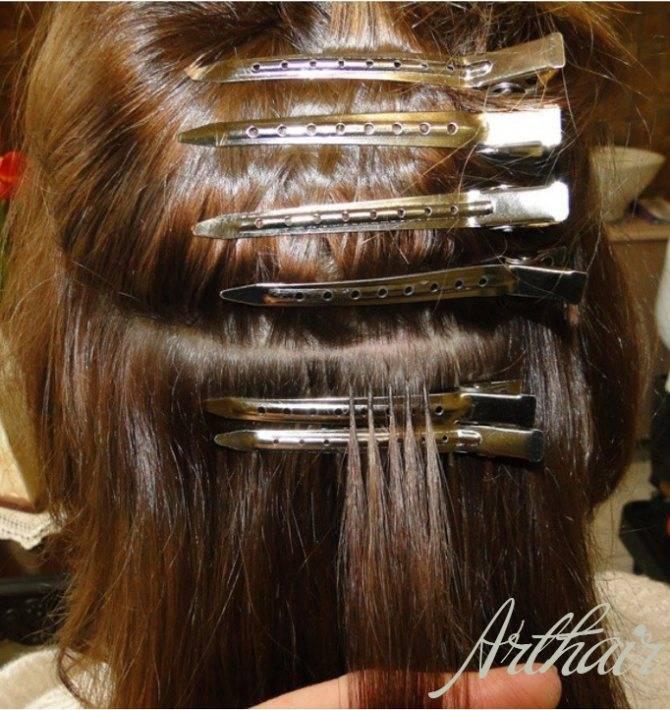 Капсульное наращивание волос : фото и отзывы
