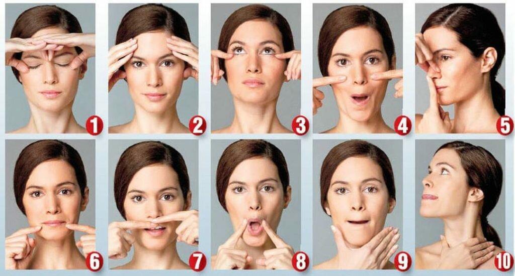 Эффективные упражнения для подтяжки овала лица — безоперационная методика омоложения