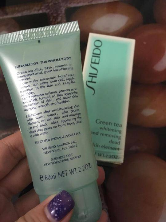 Пилинг для лица shiseido green tea: подробный обзор средства