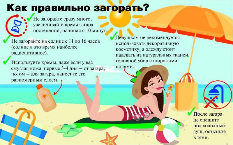 6 советов, которые помогут не загореть летом
