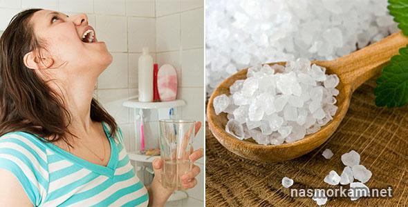 Кому можно полоскать горло морской водой с солью и как правильно проводить процедуру