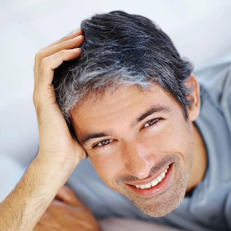 Причины ранней седины у мужчин в 30 лет, что делать?
