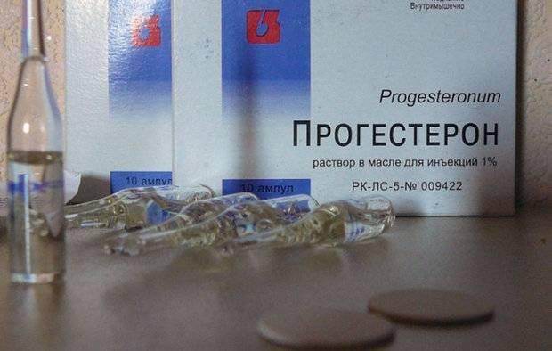 Как используется прогестерон для вызова менструации