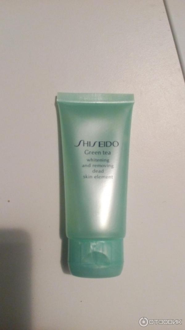 Пилинг-скатка shiseido green tea — номер один для ухода