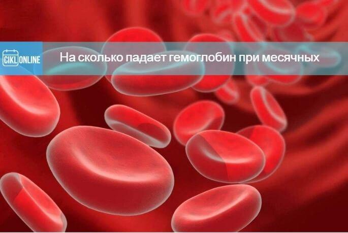 Во время месячных понижается гемоглобин в крови