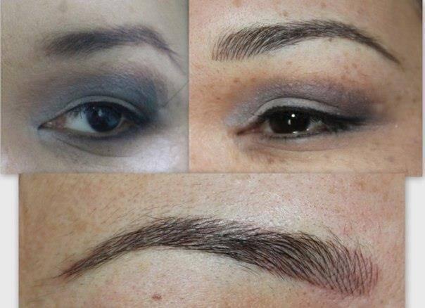 Татуаж и макияж бровей 2020. 100 фото до и после.