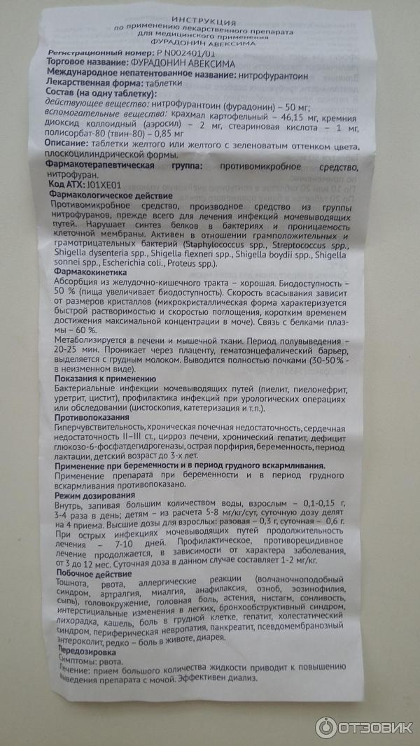 Фурадонин от цистита – особенности препарата и его правильный прием