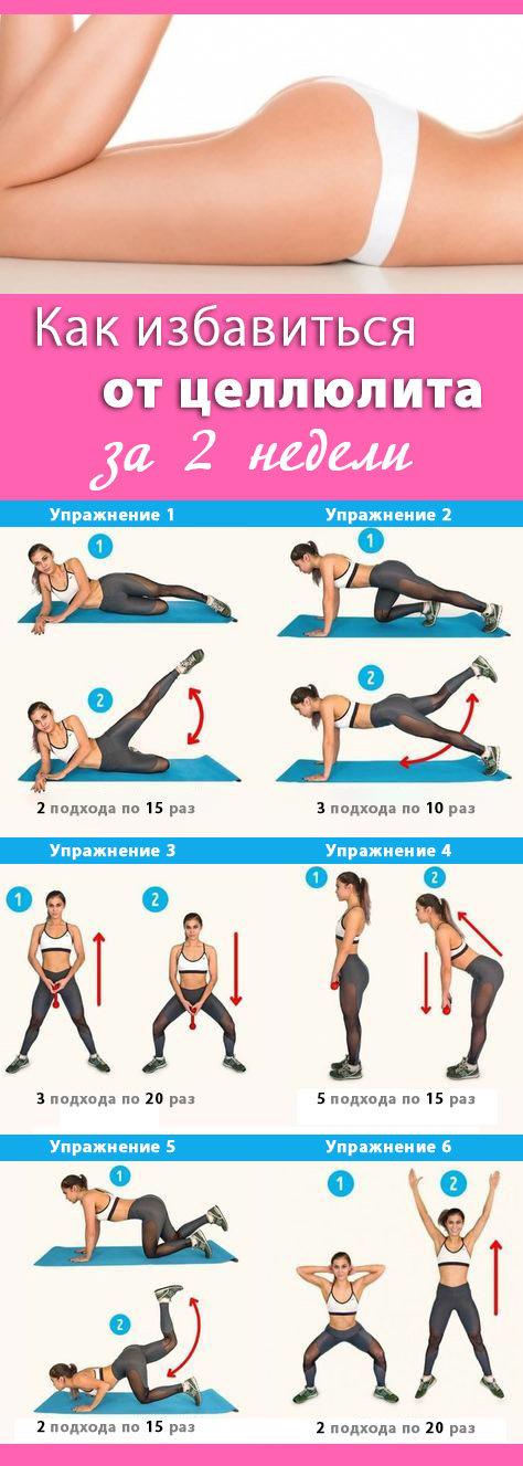 Упражнение для ног от целлюлита с картинками