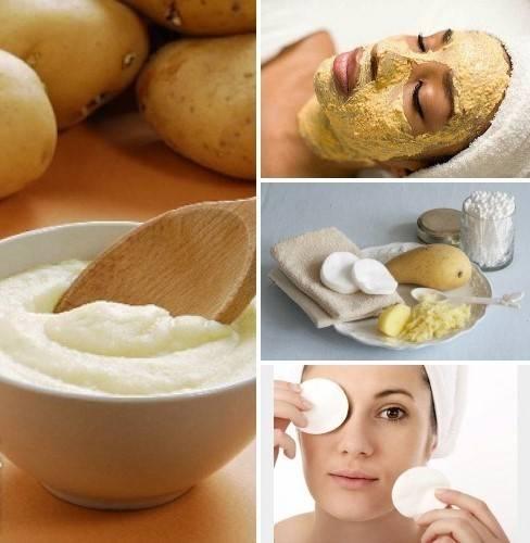 Народные рецепты косметических масок для лица из сырого картофеля в домашних условиях. полезные свойства картофеля в домашнем салоне красоты